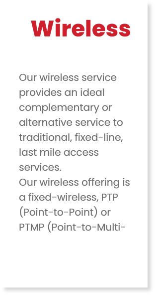 Wireless - How we connect people to Fibre